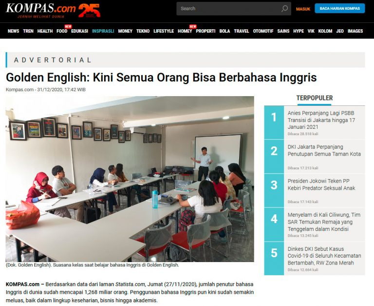 kursus bahasa inggris online murah